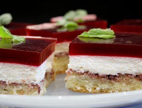 Ciasto karmelowo-jeżynowe