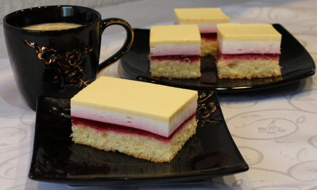Ciasto malinowe z adwokatem