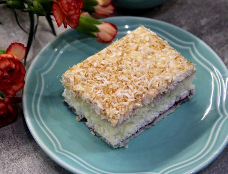Ciasto kokosowo – porzeczkowe