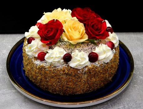 Tort makowo – pomarańczowy