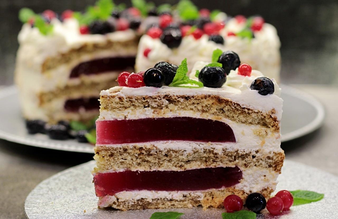 Tort kawowo – porzeczkowy