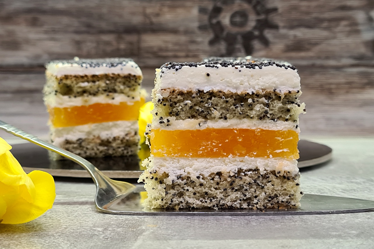 Ciasto makowo – pomarańczowe